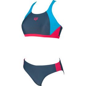 arena Ren Dwuczęściowy strój kąpielowy Kobiety, shark/turquoise/freak rose
